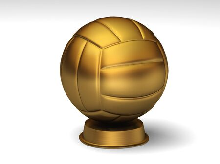 Closeup on a golden volleyball trophy Stock Photo - 6952498
