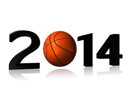 big 2014 basket logo on a white background Banco de Imagens