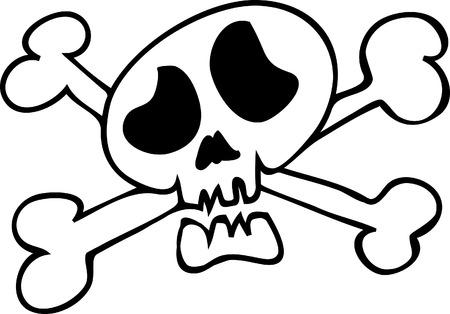 Funny cartoon skull