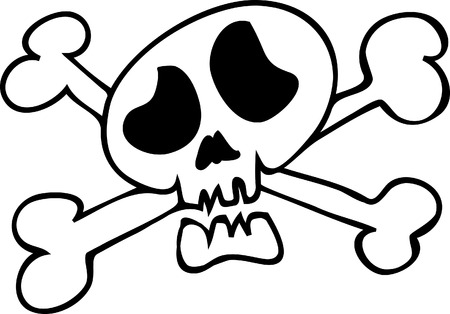 Funny cartoon skull Reklamní fotografie - 7946474
