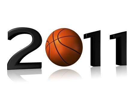 Big 2011 basketball logo on a white background Stock Photo - 8032367