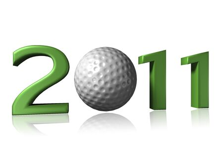 Big 2011 golf logo on white background