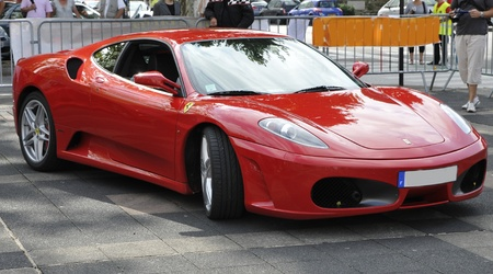 ferrari: Front view of a F430 Ferrari during a meeting