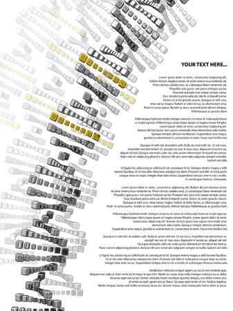 adn: ADN cubos de oro y plata con el texto de la muestra sobre un fondo blanco Foto de archivo