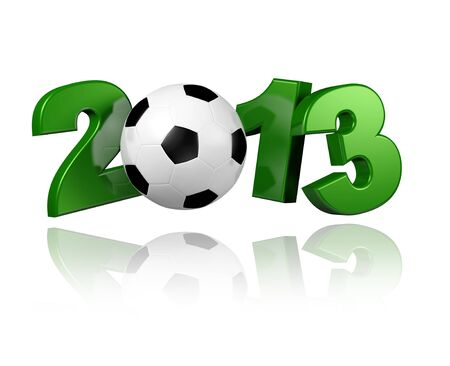 Football 2013 with a White Background Banco de Imagens - 13963403