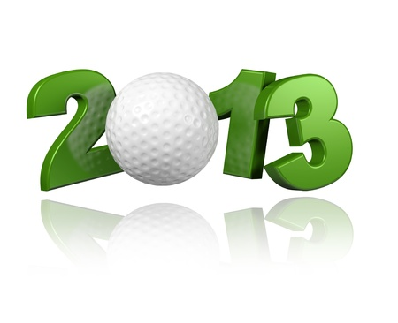 Golf 2013 with a White Background Banco de Imagens - 13983858