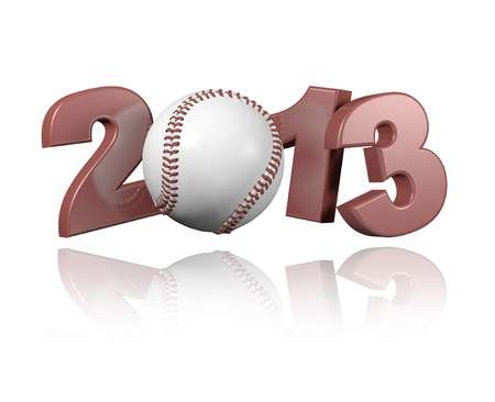 Baseball 2013 design with a white Background