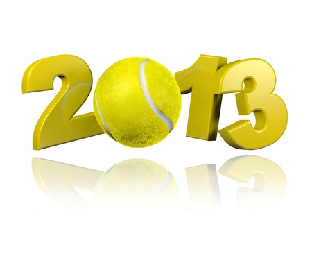 Tennis 2013 design with a White Background Stock Photo