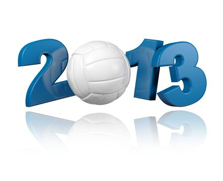 Volleyball 2013 design with a White Background Stock Photo