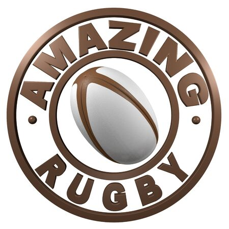 Amazing Rugby circular design with a white background photo