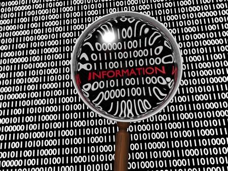 Hidden Numeric Information in Plenty of Binary Digits Stock Photo - 16488126