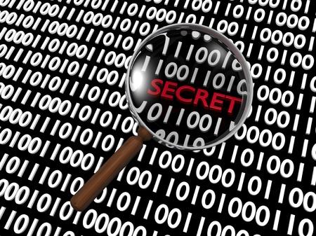Hidden Numeric Secret in Plenty of Binary Digits Stock Photo - 16488124
