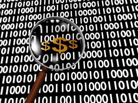 Hidden Numeric Dollar in many digital binary numbers Stock Photo - 16708394