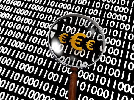 Hidden Numeric Euro in many digital binary numbers Stock Photo - 16708402