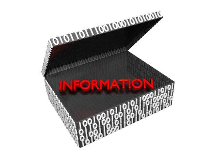 Information in a Numeric Box with a white background Stock Photo - 16708383