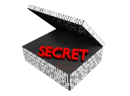 Secret in a Numeric Box with a white background Stock Photo - 16708380
