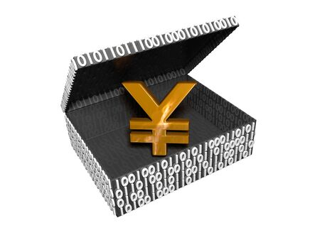 Yen symbol in a Numeric Box with a white background Stock Photo - 16708381