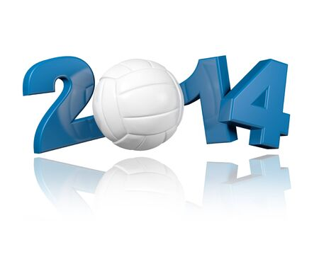 Volleyball 2014 design with a White Background Banco de Imagens - 18406598