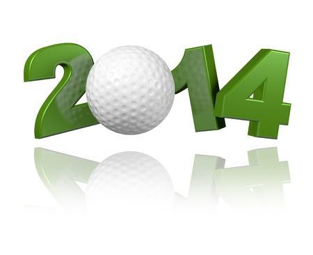 Golf 2014 design with a White Background Banco de Imagens - 23283405