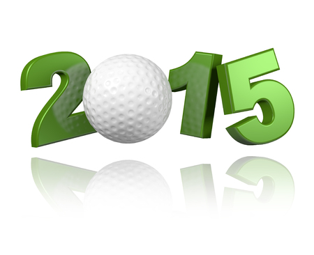 Golf 2015 design with a White Banco de Imagens - 31430718