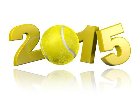 Tennis 2015 design with a White Background Reklamní fotografie - 31430727