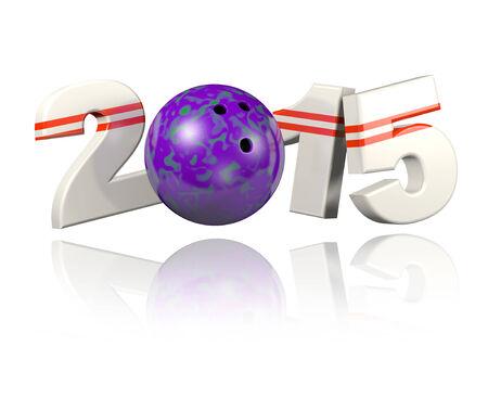 Bowling 2015 design with a White Background Banco de Imagens - 32454589