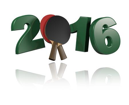 tischtennis: Tischtennis 2016 Design mit einem wei�en Hintergrund Lizenzfreie Bilder
