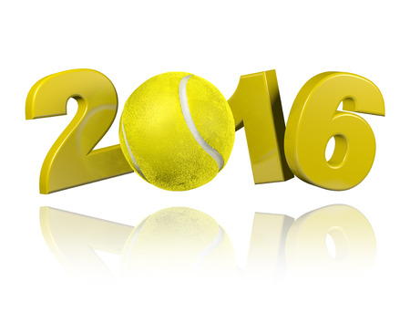 Tennis 2016 design with a White Background Banco de Imagens - 43274040