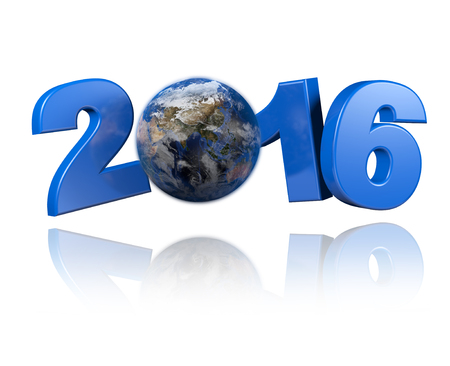 centered: Asia centered Earth view 2016 design with a white background