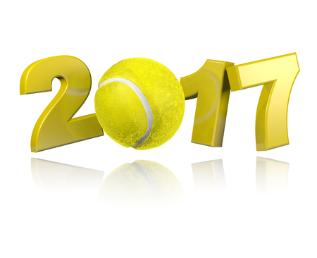 Tennis 2017 design with a White Background