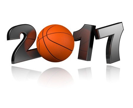 Basketball 2017 design with a White Background