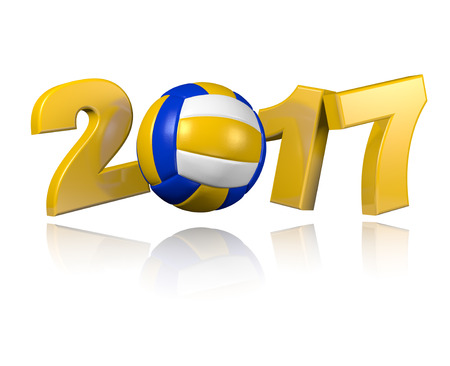 Beach Volleyball 2017 design with a White Background Stock Photo