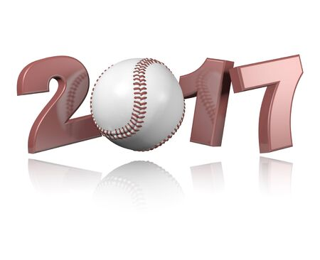 Baseball 2017 design with a white Background