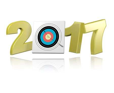 Archery 2017 design with a white Background Stock Photo