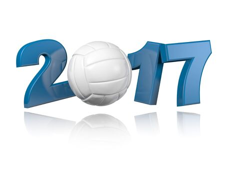 Volleyball 2017 design with a White Background