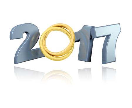 Trouwringen 2017 ontwerp met een witte achtergrond