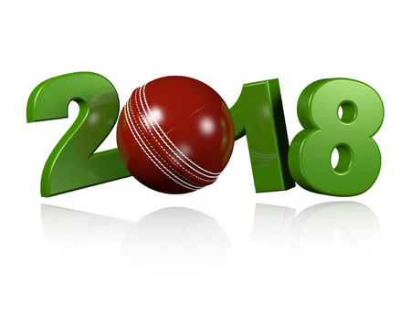 cricketer: Cricket ball 2018 Design with a white Background