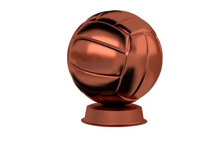 Volleyball Bronze Trophy with a white background