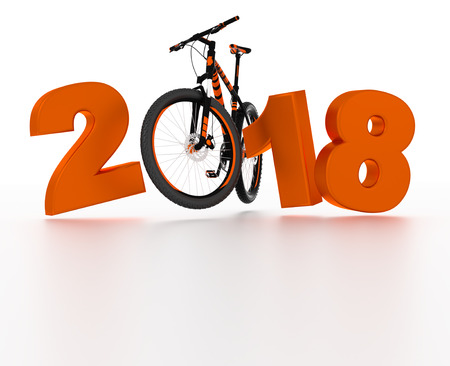 Full Bicycle 2018 design with a White Background