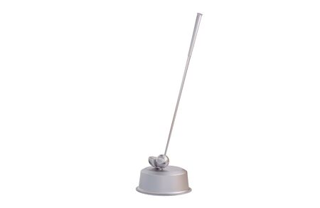 Golf Club and Ball Silver Trophy with a white background