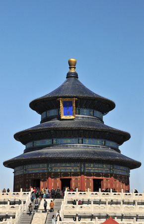 The Temple of Heaven in Bejing in China with a Blue Sky