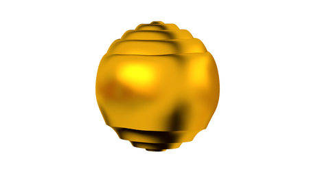 Golden Sphere with many Horizontal Waves on Its Surface