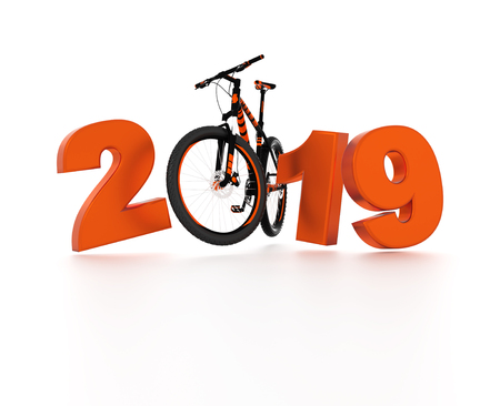 Bicycle 2019 Design with a White Background