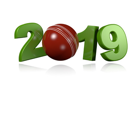 Cricket ball 2019 Design with a White Background