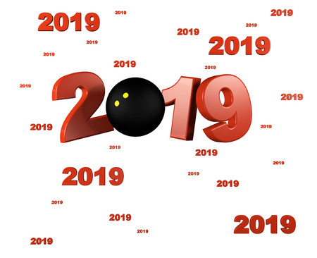 Many Squash ball 2019 Designs with a White Background