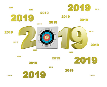 Many Archery Target 2019 Designs with a White Background