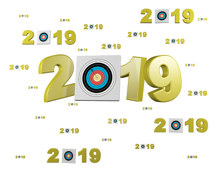 Many Archery Target 2019 Designs with many Target on a White Background
