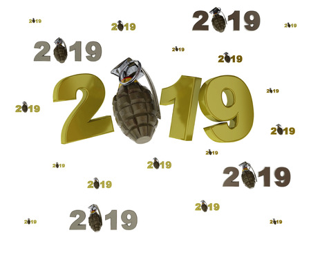 Many Military Grenade 2019 Designs with lots of Grenades on a White Background