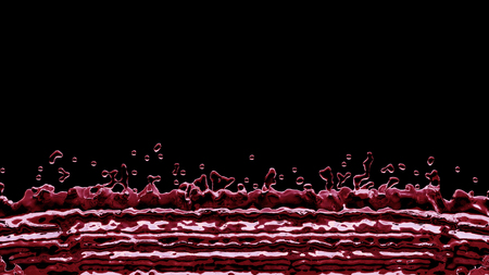 Linear Red Liquid Splash all along the bottom of the picture with a black background