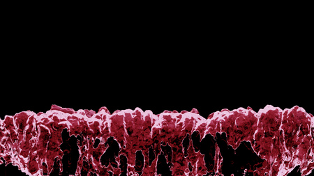 Red Liquid boiling all along the bottom of the picture with a black background 版權商用圖片